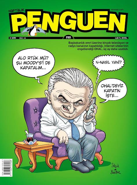 Penguen Dergisi | 6 Ekim 2016 Kapak Karikatürü