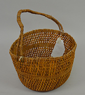 Woven basket made from pandanus leaves