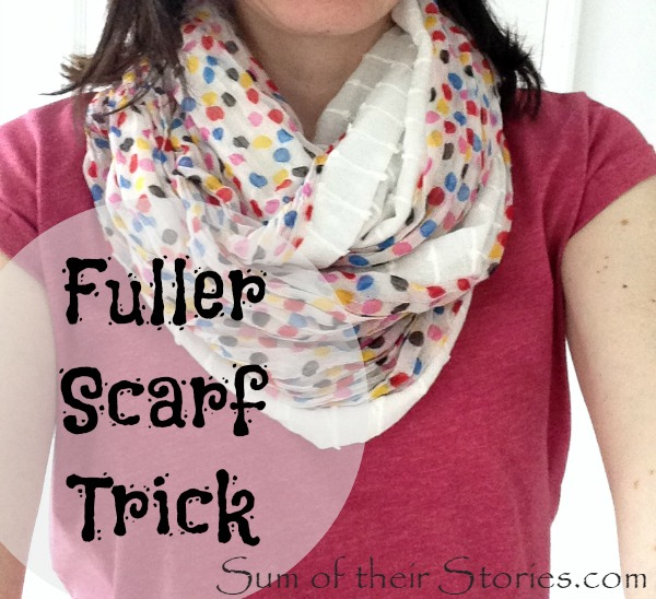 Turn an old thin scarf to fuller infinity scarf