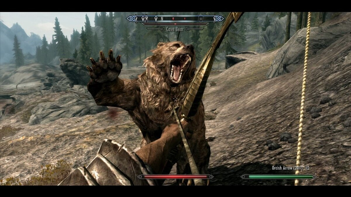 How to remove bars around the edges of the screen in Skyrim