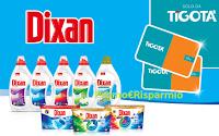 Logo Tenta la fortuna con Dixan per vincere 600 gift card Tigotà da 25€