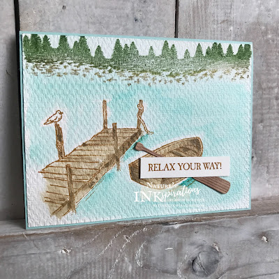 By Angie McKenzie for the Joy of Sets Blog Hop; Click READ or VISIT to go to my blog for details! Featuring the By the Dock and Mountain Air stamp sets and the Dockside and Tasteful Labels Dies; #handmadecards #naturesinkspirations #joyofsetsbloghop #masculinecards #bythedockstampset #docksidedies #mountainairstampset #agoodmanstampset #tastefultextile3dembossingfolder #waterpainterwatercoloring  #cardtechniques #stampinupinks #makingotherssmileonecreationatatime