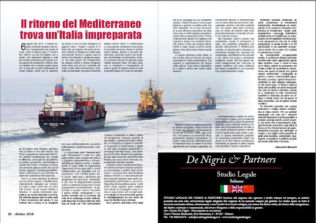 OTTOBRE 2018 PAG.28 - Il ritorno del Mediterraneo trova un'Italia impreparata