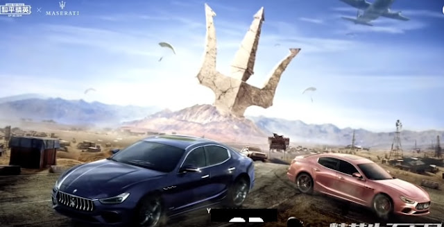 PUBG Mobile, Game For Peace, Maserati Ghibli, Sports Car