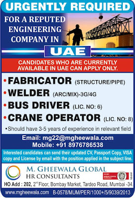 Urgently required in UAE
