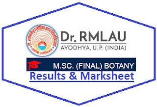 RMLAU M.Sc Botany Final Result 2021