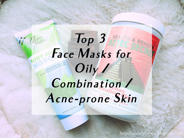 Life With Audrey Top 3 Favourite Face Masks for Oily Combination Acne Prone Skin