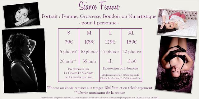 séance photos shooting book femme la roche sur yon