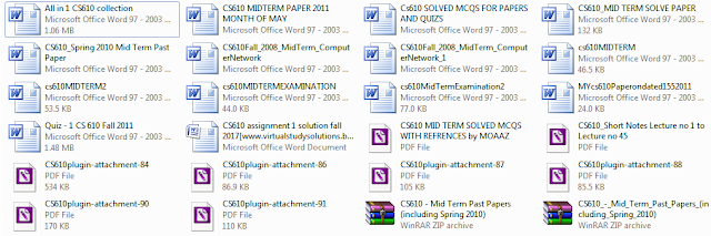 CS610 Mid Term Past Papers All in One Collection of Files Preview