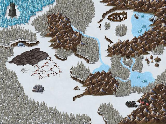 Aventura de Navidad para Dungeons & Dragons - La Frontera del Invierno - Mapa
