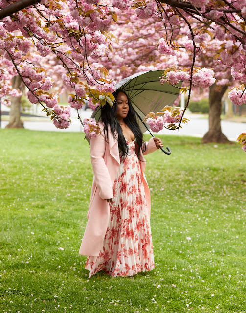 Cherry blossom fashion shoot