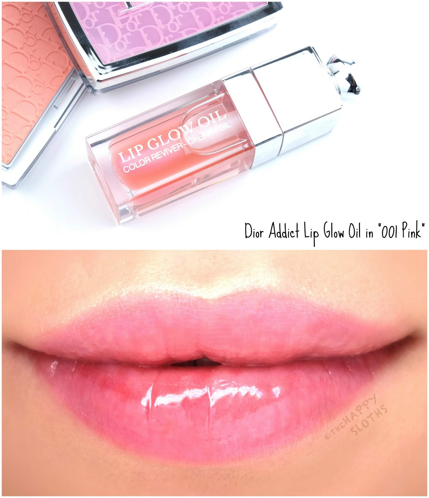 "Dior | Dior Addict Lip Glow Oil in ""001 Pink"": Review and Swatches"