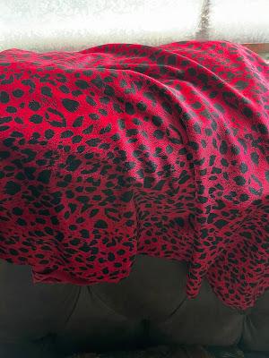 bright raspberry leopard print velvet!