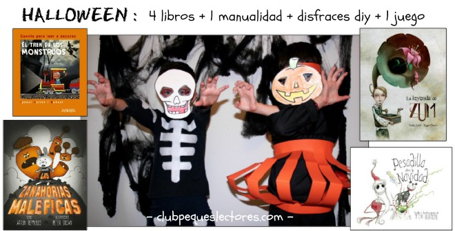 libros infantiles, manualidades, disfraces diy caseros y juego halloween