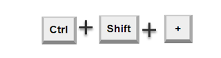 Ctrl Shift + to expand FastTabs in AX