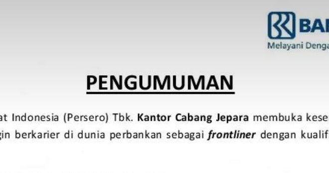 Loker Driver Bank Bri Surabaya : Lowongan Kerja Bank Di Surabaya Lulusan Sma - Info Seputar ...