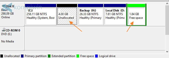 membuat partisi laptop pc komputer