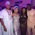 Teebillzz and Tiwa Savage pictured together at Stephanie Coker's wedding