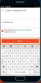isi email dan tap kirimkan