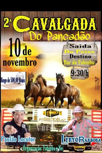 2ª Cavalgada da Comunidade do Pancadão, município de Rio do Antônio, acontece neste próximo domingo (10)