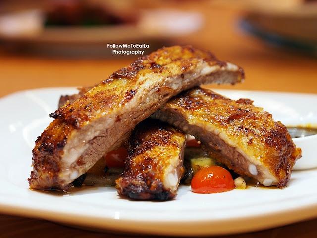Iberico Back Ribs  烤西班牙黑豬骨(黃金醬, 黑椒醬) RM 48++