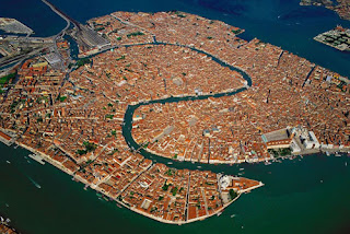 Fotografia aerea dI Venezia.