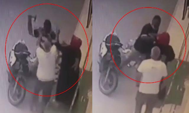 بالفيديو/ سوسة راجل يعتدي يعتدي بالضرب والعنف على جارتو بمطرقة على راسها في شارع