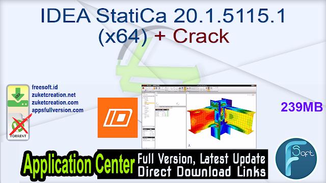 IDEA StatiCa 20.1.5115.1 (x64) + Crack