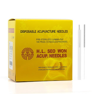 Lierre Medical H.L Seo Won Acupuncture Needles (Spring Handle) 36*1.5'' (0.20*40mm)