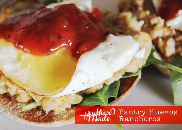 make huevos rancheros with ingredients in your pantry. recipe.
