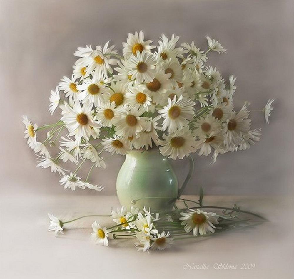 flores en pinturas al leo sobre lienzo cuadros de flores amarillas jarron de flores