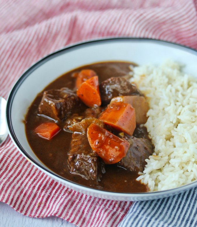 Japanese Beef Curry stew with rice