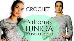 Patrones Crochet de Túnica Calada para Mujer con Paso a Paso Y Moldes