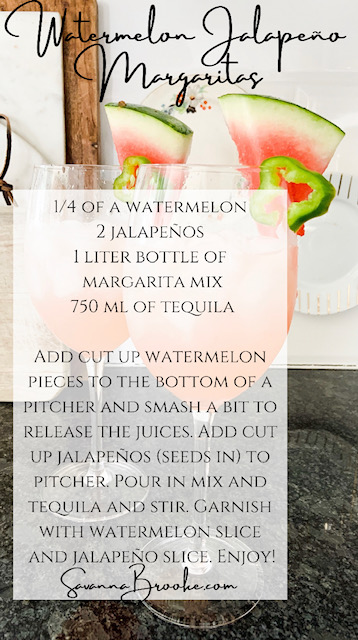 easy recipe for watermelon jalapeno margaritas