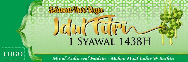 Contoh Spanduk Banner Baleho Ucapan Idul Fitri 1439h Terbaru 2018
