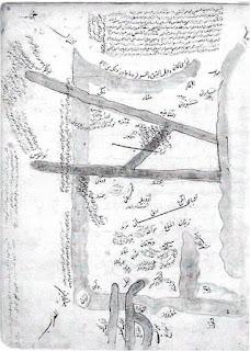 Peta abad ke-10 dari laut Kaspia, oleh Ibn Hawqal