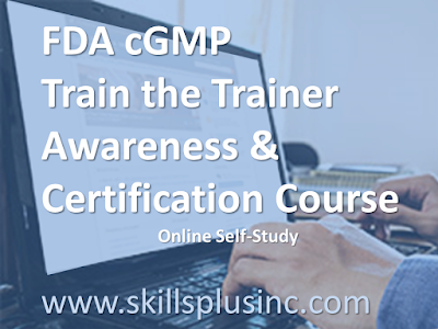 GMP Trainer Awareness, Certification, & Master Trainer Course