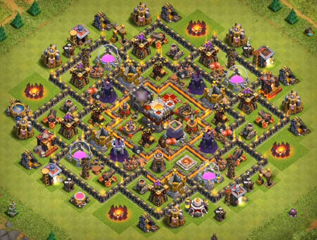 Base COC TH9 Trophy 5