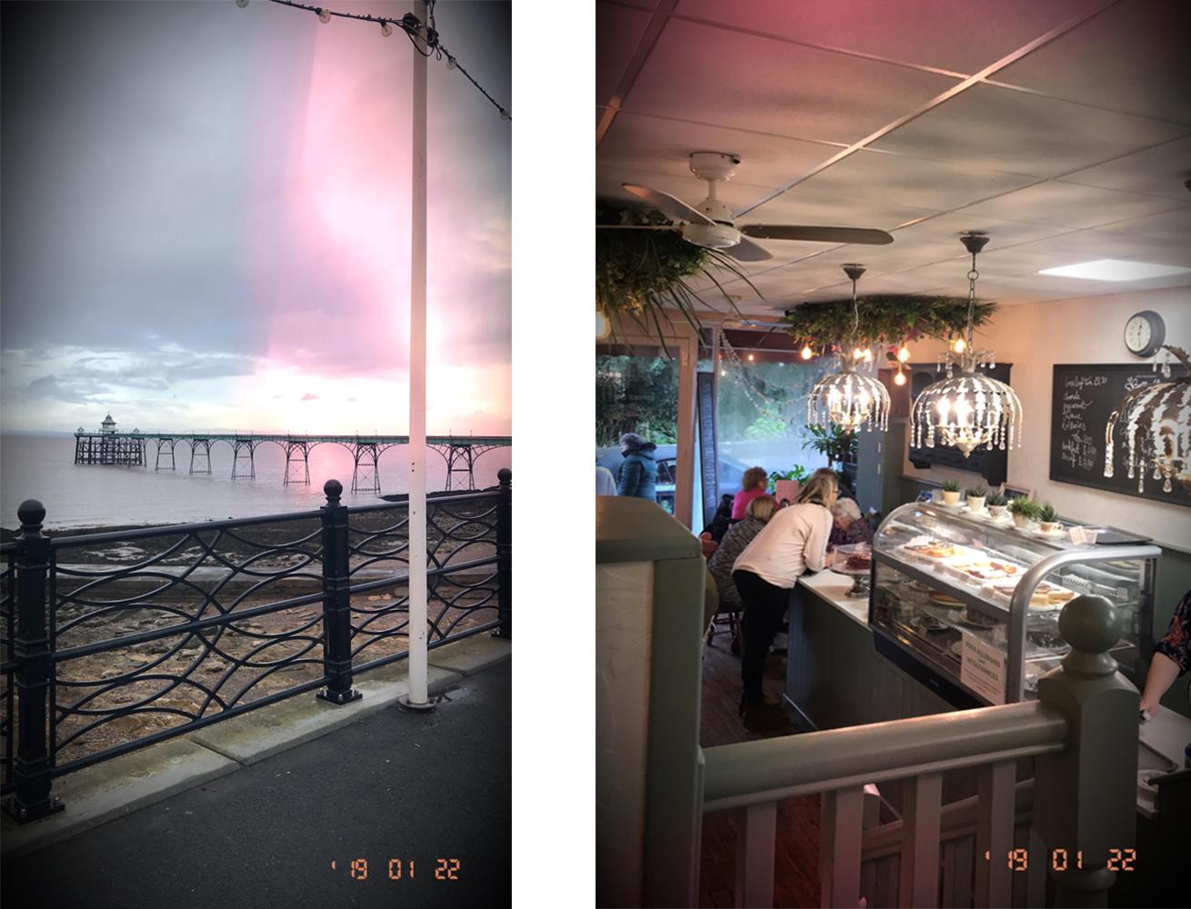 Coffee shop and sea views