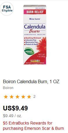 Boiron Calendula Burn Relief