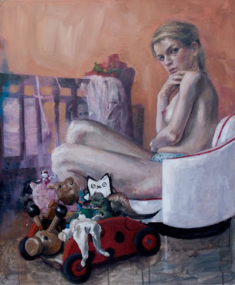 Girl with Cradle and Toys (2009), Rossina Bossio