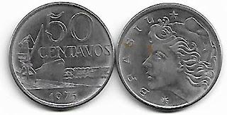 50 centavos, 1975 aço inoxidável