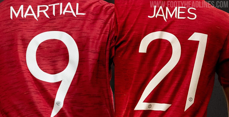 All New Manchester United 20 21 Kit Font Revealed Footy Headlines