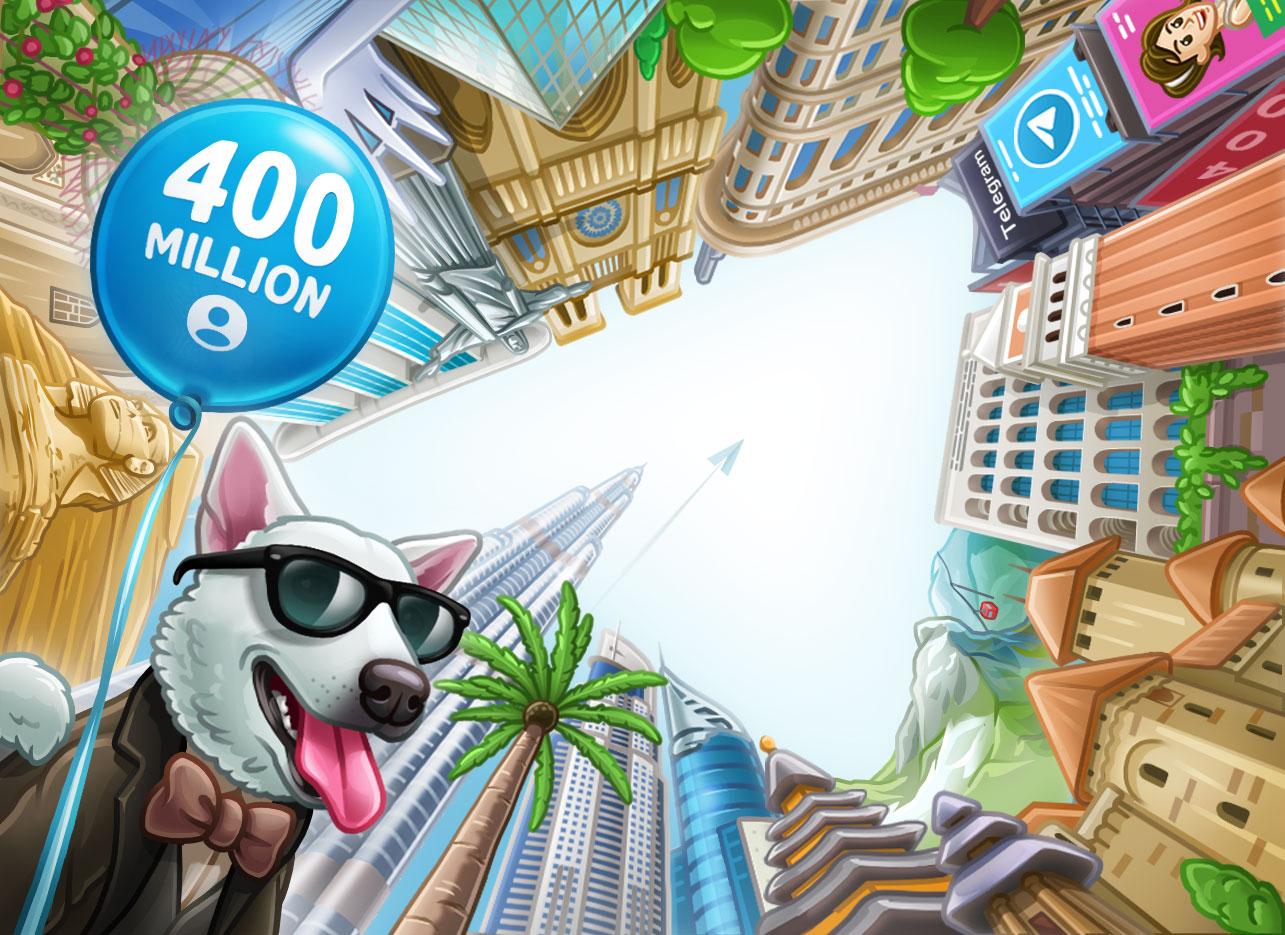 Telegram raggiunge quota 400 milioni di utenti ed annuncia importanti novità