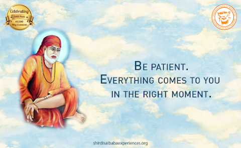 Be Patient - Sai Baba In Sitting Posture Painting Image