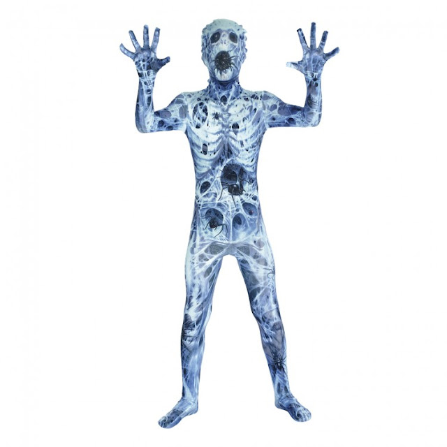 spider skeleton ghoul morphsuit