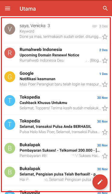 Cara Membuka Email Masuk Gmail di HP Untuk Pemula 16