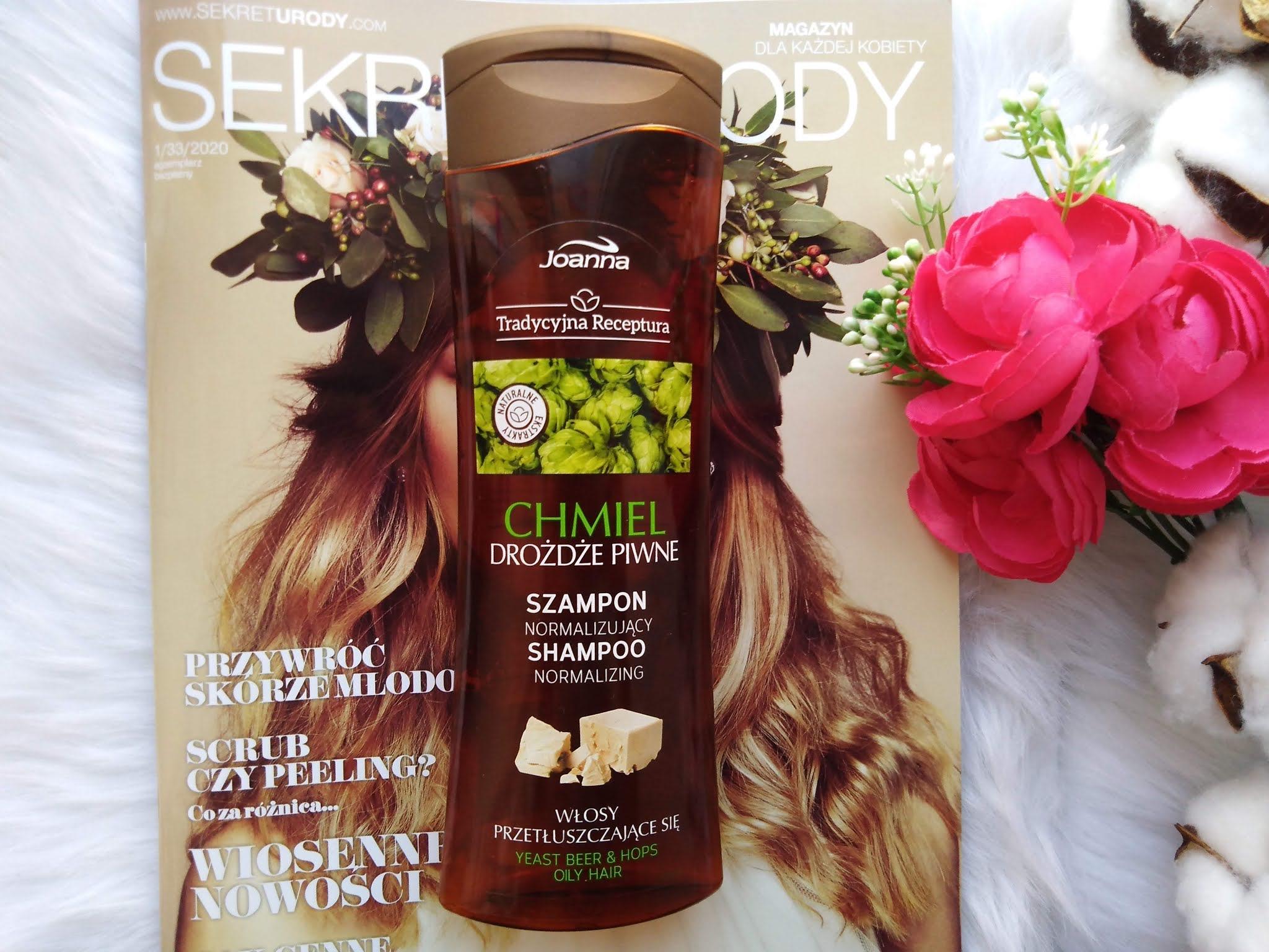 blogerkipolecają, moje KWC, Joanna szampon normalizujący, szampon chmielowy joanna, dobry szampon z drogeriikosmetyki, do których zawsze wracam,