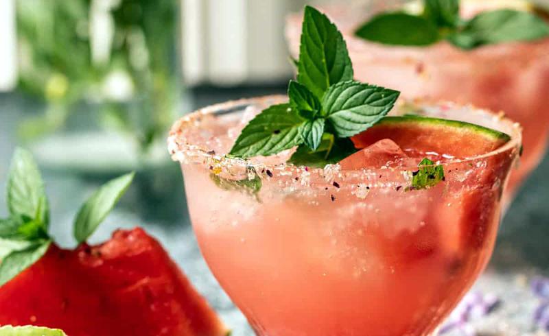 Smoky Watermelon Lemon Margarita