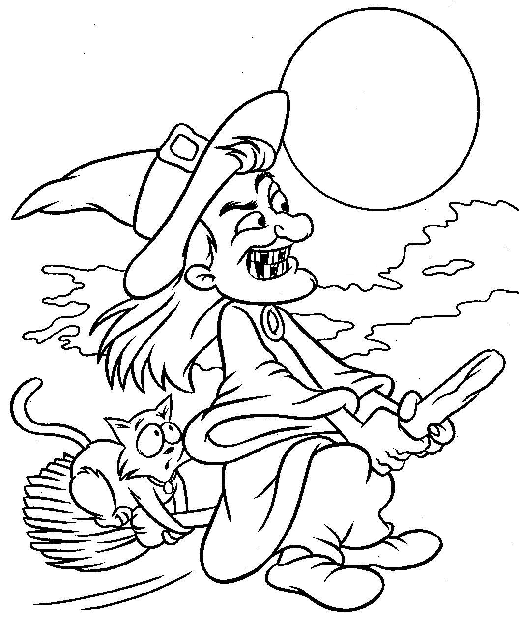 halloween coloring pages, printable, free - photo#24